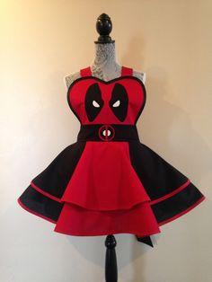 Deadpool - Deadpool Costume - Deadpool apron - Cosplay Apron - Retro apron by AriaApparel on Etsy https://www.etsy.com/listing/231963764/deadpool-deadpool-costume-deadpool-apron