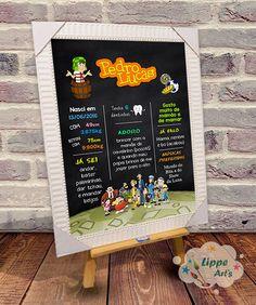 Chalkboard no tema Chaves para a festa de aniversário de 1 ano