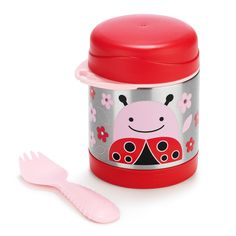 This adorable Skip Hop Stainless Steel Food Jar will keep kid-sized portions of food warm or cold. It is ideal for meals on the go, from snacks to lunch and more. www.rightstart.com
