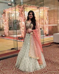Attractive Festive Wear Lehenga Choli from Stf Store Indian Gowns Dresses, Indian Fashion Dresses, Dress Indian Style, Indian Designer Outfits, Designer Dresses, Fashion Clothes, Fashion Fashion, Winter Fashion, Indian Wedding Outfits