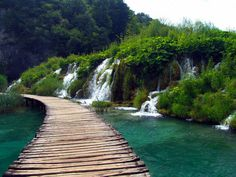 Plitvice Lakes National Park in Croatia. I had no idea that there is beauty like this in Croatia.