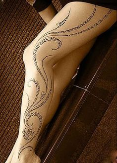 Polynesian Tattoo Leg