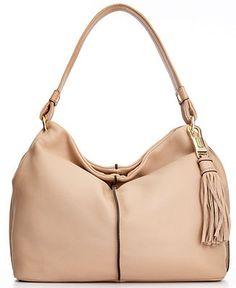 Calvin Klein Handbag, Key Item Pebble Leather Hobo - Hobo Bags - Handbags & Accessories - Macy's