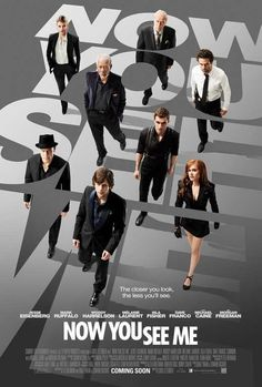Check out the poster for the illusionist thriller Now You See Me starring Jesse Eisenberg, Isla Fisher, Mark Ruffalo, Woody Harrelson and Morgan Freeman. Mark Ruffalo, Films Hd, Hd Movies, Movies Online, Watch Movies, Movies Free, Film Online, Suspense Movies, Movie Facts