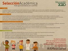 Porque la educación es un derecho de todos los niños y niñas: no más selección. #AMezclarse