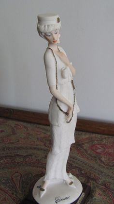 Giuseppe Armani 1987 Lady with Chain by MostlyAwesomeStuff on Etsy