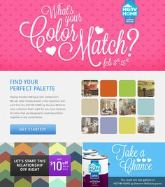 What's your color match? Take the quiz on Sherwin-Williams' Facebook page to find out.