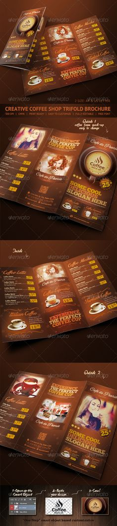 Coffee Shop Menu Flyer Template | Coffee Shop Menu, Flyer Template