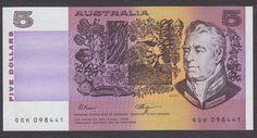 Australian 5 Dollar Paper Banknote-1966-1991