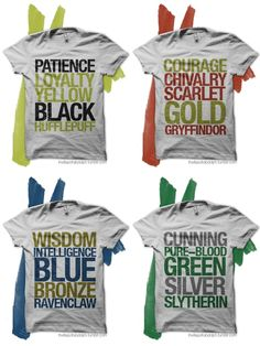 Harry Potter House tees!