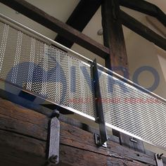 Fearn Island Mill - Internal balustrade panels for private residence - Product: Andover Modified Wire Mesh, Metal Mesh, Expanded Metal, A Whole New World, Metal Working, Stained Glass, Stairs, Island, Interior Design