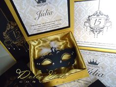 Dolce Vitta Convites: Nova coleção 2014 Kit para 15 anos modelo. Versailles - Baile de Mascaras cod.145