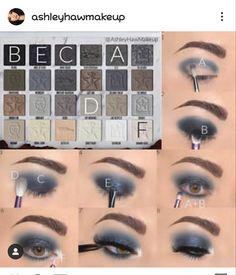 Makeup Eye Looks, Eye Makeup Steps, Eye Makeup Art, Cute Makeup, Eyeshadow Makeup, Makeup Tips, Beauty Makeup, Makeup Pictorial, Eye Makeup Designs