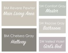 46 Trendy Ideas For Bedroom Paint Colors Benjamin Moore Grey Revere Pewter Purple Paint Colors, Office Paint Colors, Kitchen Paint Colors, Bathroom Paint Colors, Interior Paint Colors, Paint Colors For Home, Bedroom Colors, Wall Colors, House Colors