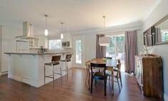 Split-level kitchen layout for reno