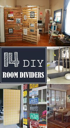 14 Creative DIY Room Divider Ideas - Check them out and find the best option for your home! - Home Decoz Studio Apt, Diy Room Divider, Divider Ideas, Wall Dividers, Room Divider Bookcase, Fabric Room Dividers, Unique Pallet Ideas, Diy Ideas, Decor Ideas