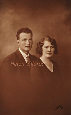 Beautiful Vintage Digital image of young couple my grandparents by TulaBarthVillareal on Etsy