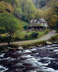 By Craig Joiner. Watersmeet House tea room by the East Lyn river at Watersmeet in Exmoor National Park near Lynmouth and Lynton, Devon, England, United Kingdom.