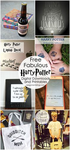 Free digital graphics, downloads, and other Harry Potter printables