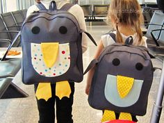 oliver + S penguin back pack pattern from Little thinsg to sew book..  2011