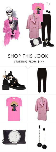 """pink"" by kety-de-jesus on Polyvore featuring moda, Balenciaga, The Row, Gucci, Chanel e Isabel Marant"