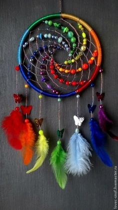 Dreamcatcher, Boho Dreamcatchers, Flower Dreamcatcher, Modern Wall Hanging, Boho… - Famous Last Words Los Dreamcatchers, Moon Dreamcatcher, Dream Catcher Craft, Making Dream Catchers, Dream Catcher Mobile, Craft Projects, Projects To Try, Diy And Crafts, Arts And Crafts