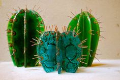 Vuela Lola: Cactus Fused Glass Art, Stained Glass Art, Cactus Decor, Cactus Plants, Cacti, Glass Cactus, Glass Fusing Projects, Mehndi Decor, Southwest Art