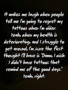 Regret? Nahh.