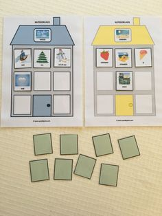 Kategori-hus – Språkhjerte English Activities, Book Activities, Life Cycles, In Kindergarten, Speech Therapy, Montessori, Literacy, Crafts For Kids, Preschool