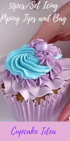 Cupcake Piping, Buttercream Cupcakes, Piping Icing, Baking Cupcakes, Cupcake Decorating Tips, Cake Decorating Frosting, Cake Decorating Techniques, Cookie Decorating, Cupcakes Design