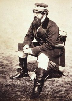 """W.H. Russell  Photograph by  Roger Fenton, 1855.    The first modern War Correspondent, he used the newly invented """"telegraph"""" to send his dispatches from the Crimea back to London for his newspaper """"The Times""""."""