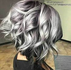 10 Inverted Bob Cuts to Try Out: #10. Black and Silver Hair