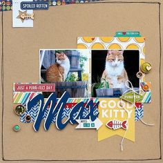 Good Kitty layout by designer Sarah Webb featuring Jillibean Soup Fur Fusion