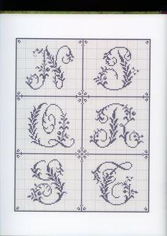 Cross stitch alphabet, pin 3 of 4 Alphabet Au Crochet, Cross Stitch Alphabet Patterns, Embroidery Alphabet, Stitch Patterns, Quilt Stitching, Cross Stitching, Cross Stitch Embroidery, Monogram Cross Stitch, Cross Stitch Love
