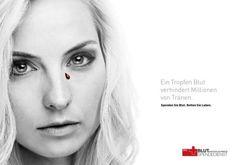 Tears, Blood Donation, WORTERBUCHER Luzern, Blutspendedienst Zentralschweiz, Printwerbung, Außenwerbung, Kreative Werbung