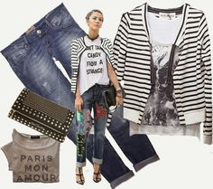 #righe#ripped#jeans#giocellinibag#