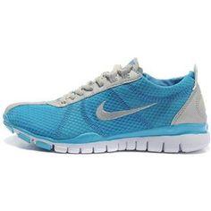 c86576343c80 Womens Nike Free TR TWIST Light Grey Blue Trainer Shoes Free Running Shoes