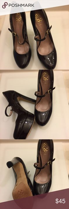 """Vince Camuto Platform Shoes Vince Camuto Patent Leather Platform Shoes in excellent preowned condition. Worn one time only. Heel:5.3""""  Size:8 Vince Camuto Shoes Platforms"""