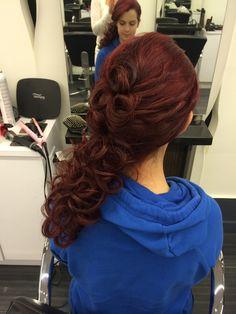 Updo for bride #fiorio #updo #hairstylist #salon #hair #bride #wedding #hairstyle