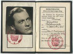 Nachlass Curd Jürgens | Burgtheater-Ausweis, 1940-1950