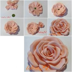 Quick Modular Rose - #clay, #rose, Crafts