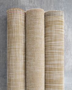 CHILEWICH CONTRACT COLLECTION 2015-2016 | WHITE/GOLD IKAT, CORNSILK BOUCLE AND HARVEST BASKETWEAVE