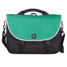 PANTONE Lucite Green with faux fine Glitter Laptop Bag
