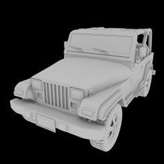 Jeep clay render Blender 3D Model