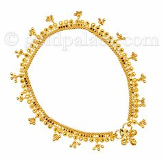 Gold Jewelry - Gold Palace Jewelers Inc. Gold Anklet 22K 9-5 Inches