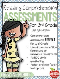 3rd Grade Reading Comprehension AssessmentsLooking for assessments to be used a reading formatives or summatives in your third grade classroom? This growing bundle is designed to progress monitor third graders' reading comprehension through out the year.