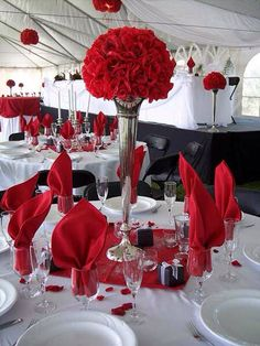 Image Detail For  Reception : Weddings   Wedding Planning U0026 Wedding Adviceu2026 Red  Wedding Centerpieces, Red Wedding Decorations ...