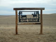 Custom Metal Ranch Entrance Signs | Patterson Metal Art