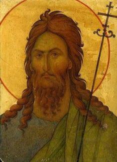 Стена Byzantine Icons, Byzantine Art, Greek Icons, Russian Icons, The Monks, John The Baptist, Orthodox Icons, Sacred Art, Fresco