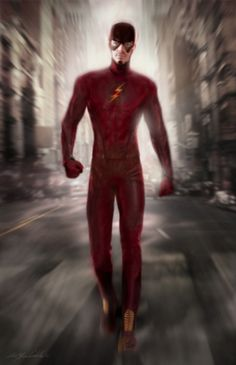 "Concept art of Flash / Barry Allen by Christian Cordella from ""The Flash"" (2014)."